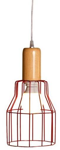 colgante alambre rojo artelamp