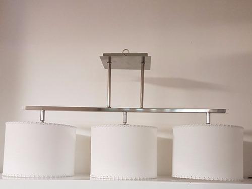 colgante araña 3 luces pantallas con lámparas de led r