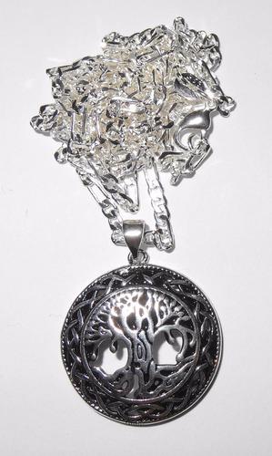 colgante arbol de la vida plata 925 más cadena regalo