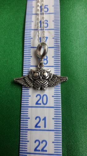 colgante búho volador dije para hombre o mujer plata 9.25