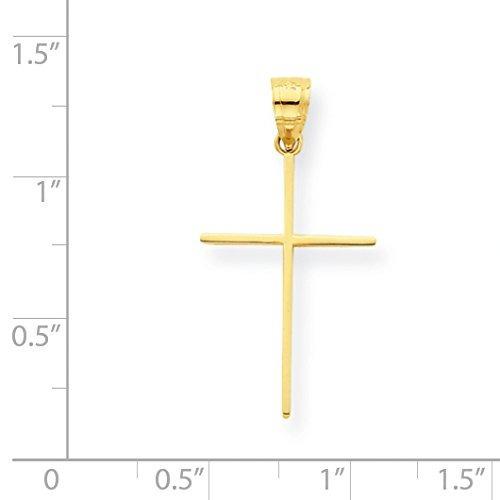 colgante con forma de cruz de oro amarillo de roy rose je...