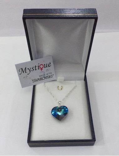 colgante corazón cristal swarovski lila (vitrail light)