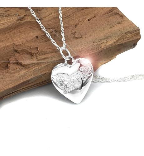 colgante corazón love ( producto de plata nacional )