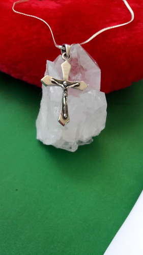 colgante crucifijo macizo de plata 9.25 para hombre o mujer