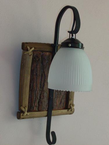 colgante de 3 luces estilo campo artesanal