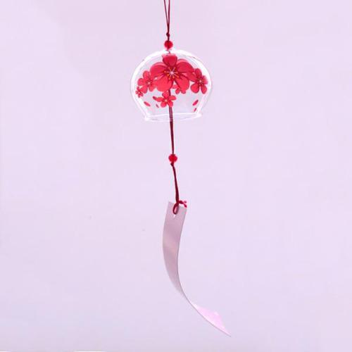 colgante de campana carillón de viento vidrio chimes floral