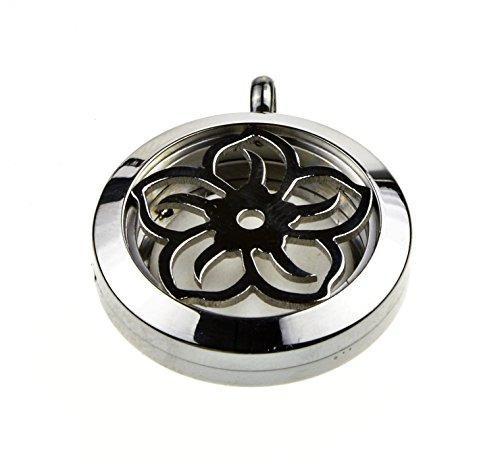 colgante de medallón de acero inoxidable del collar del dif