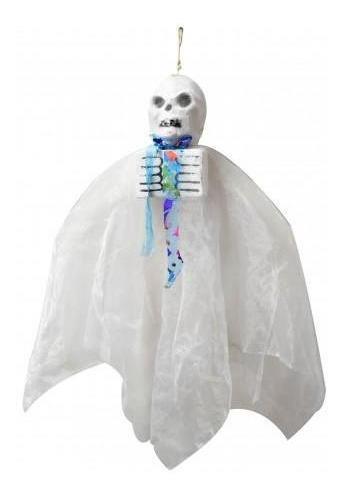 colgante decoracion cotillon halloween fantasma esqueleto