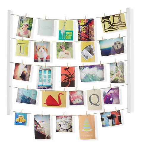 colgante display hangit portafotos y notas  living morph