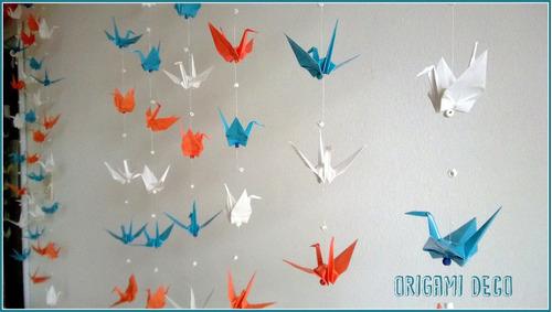 colgante grullas- fiestas souvenir vidrieras envios interior