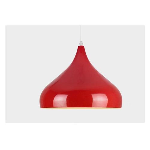 colgante iona rojo 1 luz e27 deco 220v apto led + lampara