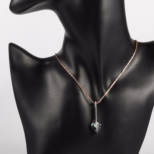 colgante joyas plata 925 de diseno topacio mistico colores