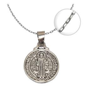 Colgante Medalla San Benito Cadena + Cajita / Todojoyas
