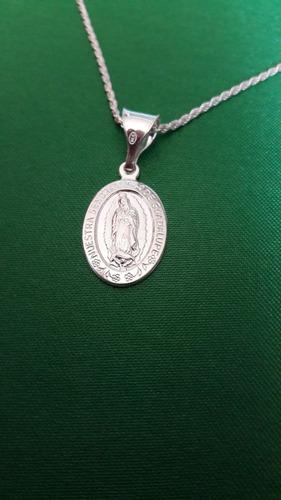 colgante medalla virgen de guadalupe de plata 9.25