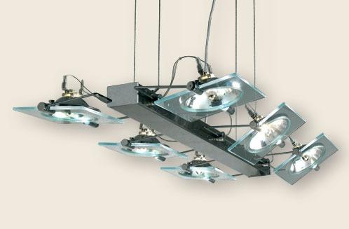 Colgante Movil 6 Luces Diseño Vidrio Halospot Apto Led - $ 7.451,00 ...