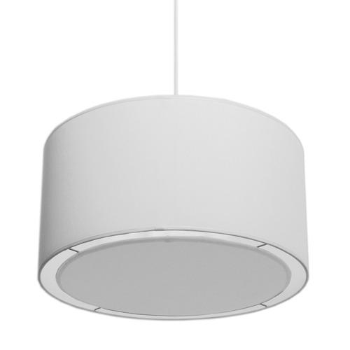 colgante pantalla cilindrico tela blanco artelamp