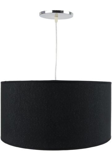 colgante pantalla cilindrico tela negro artelamp