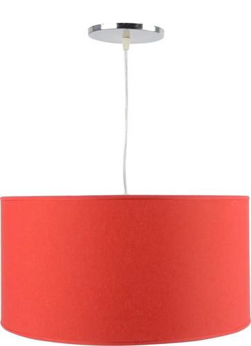 colgante pantalla cilindrico tela rojo artelamp