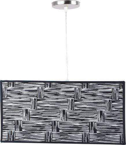 colgante pantalla cuadra tela diseño blanco y negro artelamp