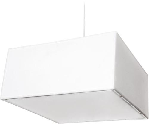colgante pantalla cuadrado tela blanco artelamp