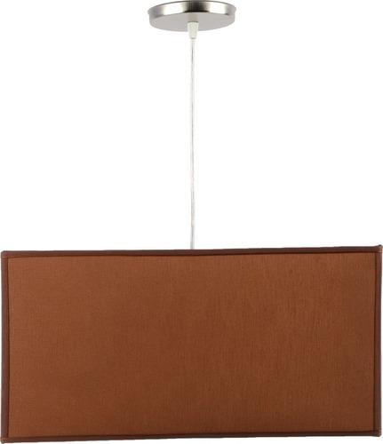 colgante pantalla cuadrado tela chocolate artelamp