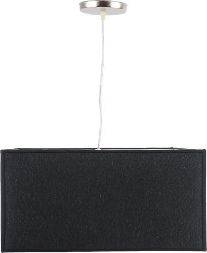colgante pantalla cuadrado tela negro artelamp