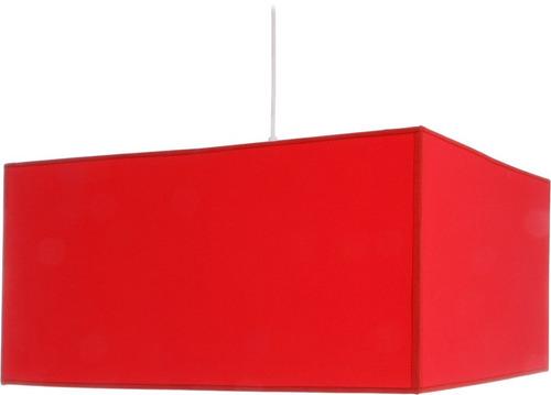 colgante pantalla cuadrado tela rojo artelamp
