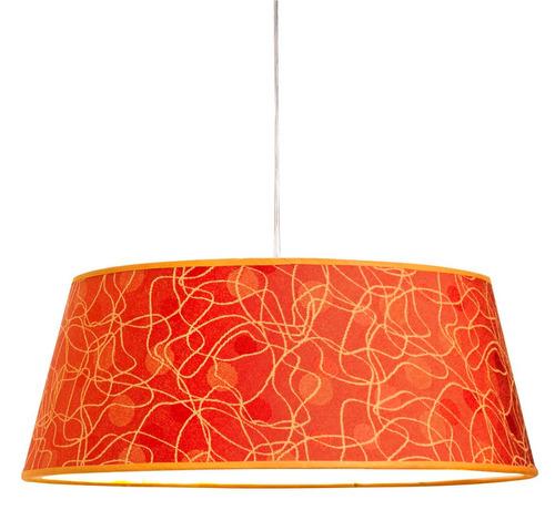 colgante pantalla tela diseño naranja artelamp