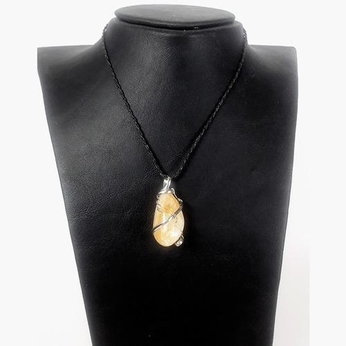colgante piedras semipreciosas cuarzo citrino