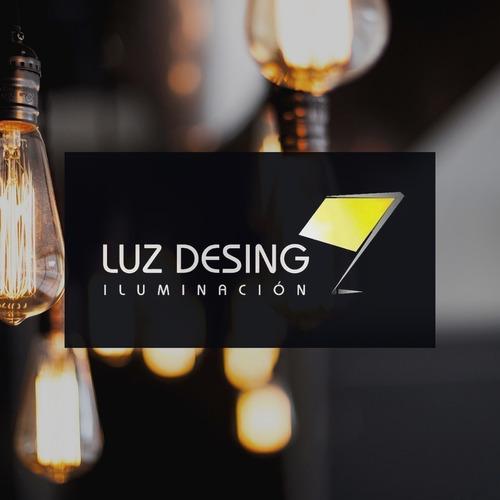 colgante plafon 6 luces vidrio con led incluido deco moderno
