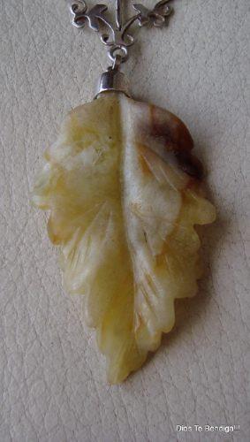 colgante plata jade