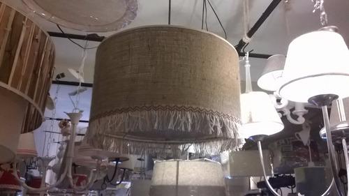 colgante techo en arpillera,fabrica pantallas artesanal