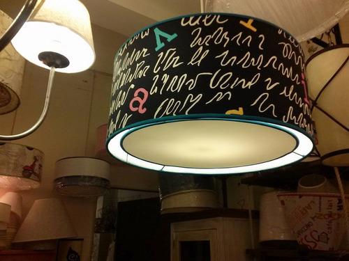 colgante techo,plafón artesanal, pantallas,iluminacion