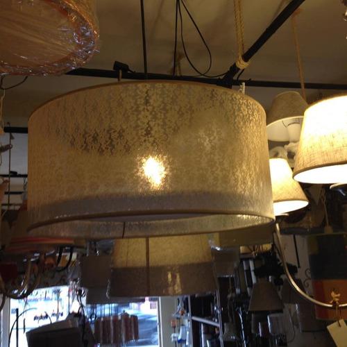 colgante techo,plafón artesanal,fabrica pantallas,encaje