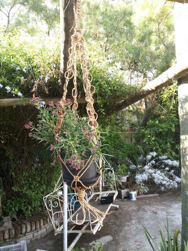 colgantes artesanales para plantas