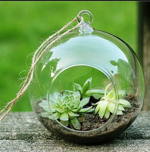 colgantes burbuja en vidrio