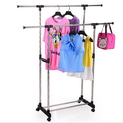 colgar ropa ajustable plegable resistente laminado estante
