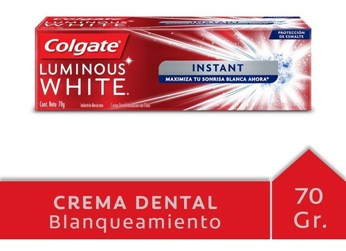 colgate luminous white instant crema 51 ml tubo