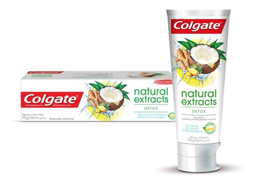 colgate natural extracts detox gel  66 ml tubo