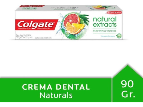 colgate natural extracts reinforced defense gel  66 ml tubo