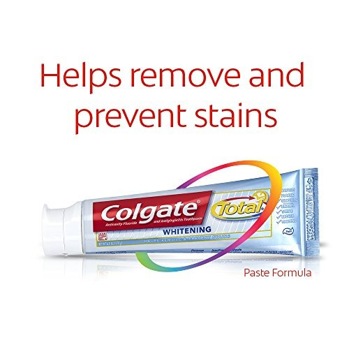 colgate total blanqueo toothpaste twin paquete 6 onzas