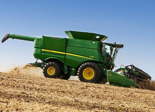 colheitadeira rotor de soja/grãos s690 johndeere entrada 15%