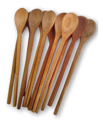 colher de pau madeira tamanho 28 cm  ref: 0017 (5 unidades)