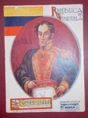 colibrí páginas para los niños, nov 1925, aguila saint, 16 p
