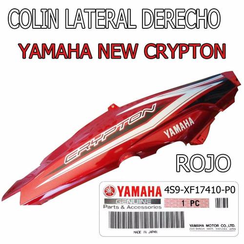 colin bajo asiento yamaha new crypton original der rojo fas