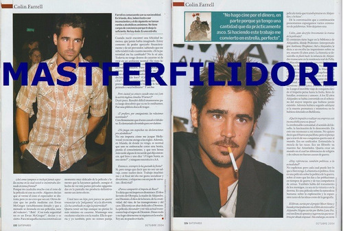 colin farrell revista gatopardo de octubre 2004