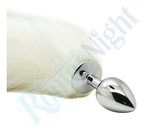 colita de zorro color blanco plug anal