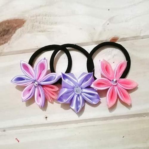 colitas para el cabello de flores