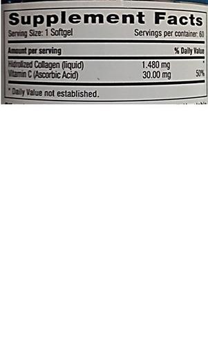 collagen plus vitamina c natural systems 60 cápsulas