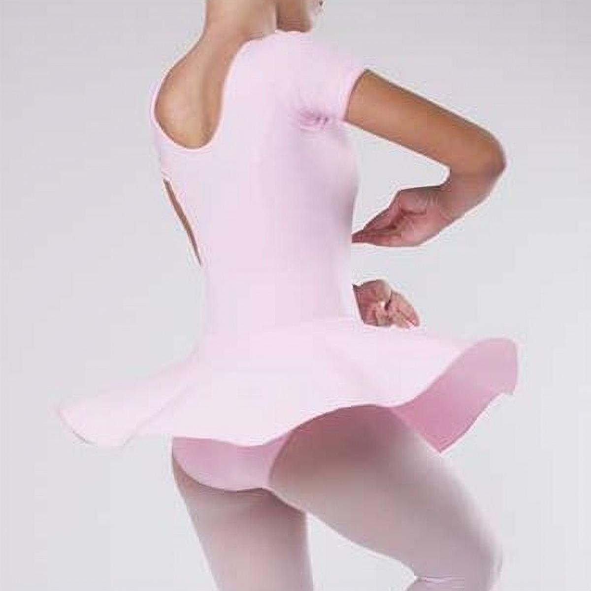 f98a3bcad Collant Ballet Saia Babado Infantil Manga Curta Balé 02 A 12 - R  79 ...